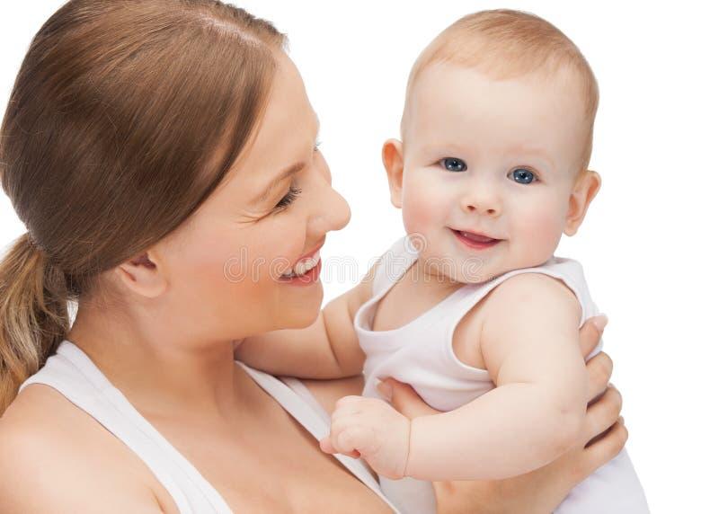 Download 有可爱的婴孩的愉快的母亲 库存照片. 图片 包括有 婴儿, 关心, 孩子, 生活, 敬慕, 愉快地, 女儿 - 30336496