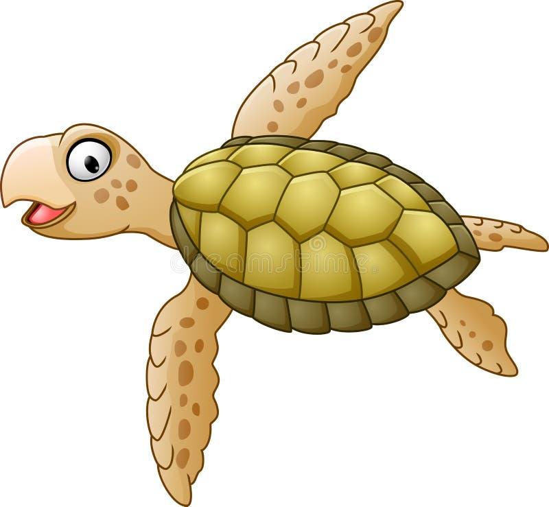 愉快的海龟动画片 向量例证