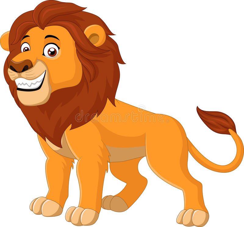愉快的狮子动物 皇族释放例证