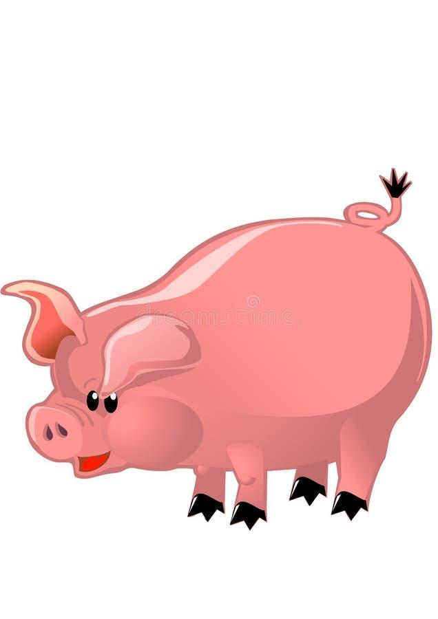 愉快的猪粉红色 皇族释放例证