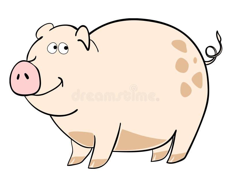 愉快的猪 向量例证