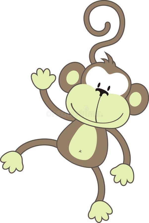 愉快的猴子 皇族释放例证