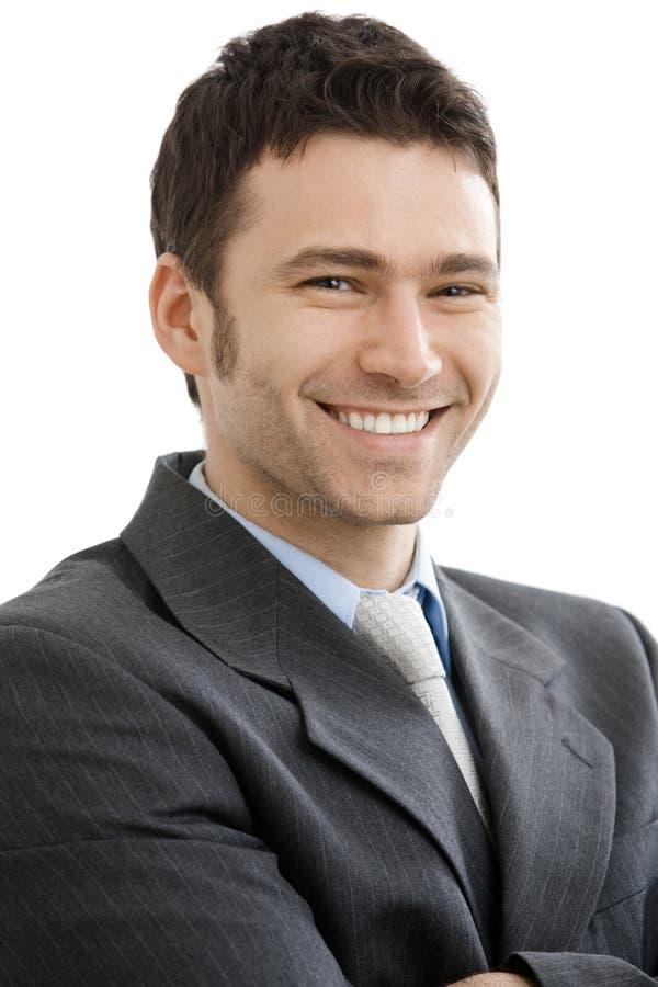 愉快的生意人 免版税库存图片