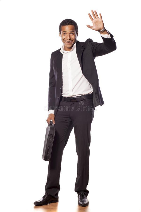 愉快的生意人 免版税图库摄影