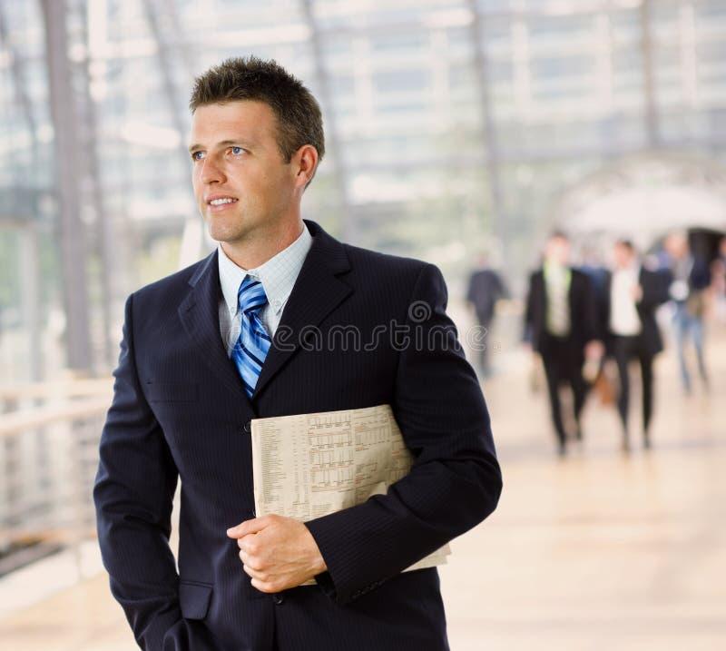 愉快的生意人 免版税库存照片