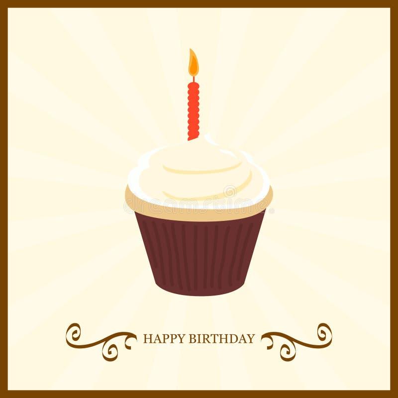 愉快的生日蛋糕 向量例证