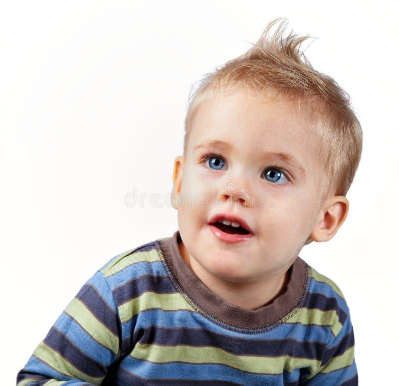 愉快的男婴 免版税库存图片
