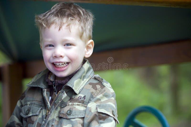 愉快的男孩 图库摄影