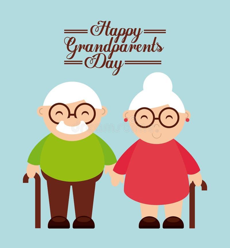 愉快的祖父母天 皇族释放例证