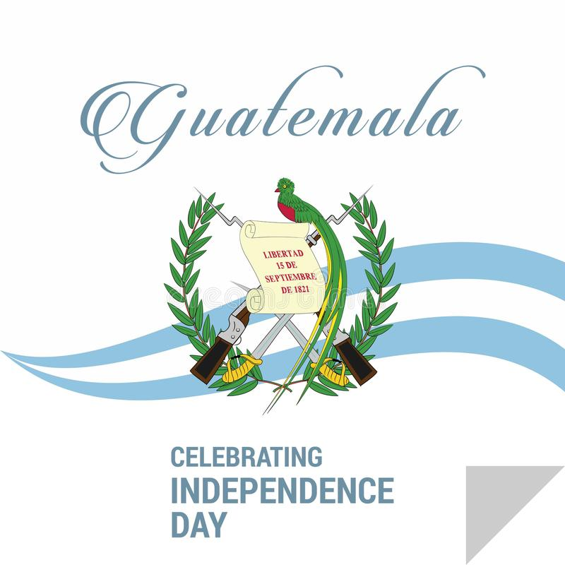 愉快的美国独立日危地马拉传染媒介贺卡 向量例证