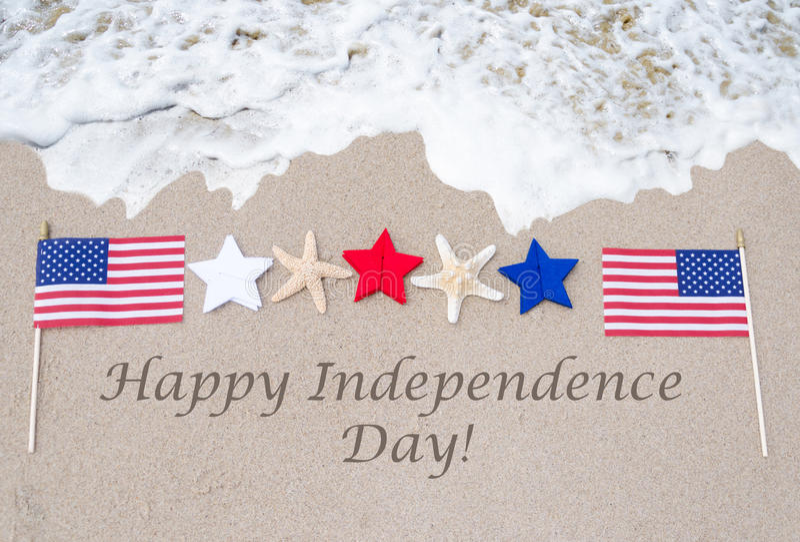 愉快的美国独立日美国背景 免版税库存照片