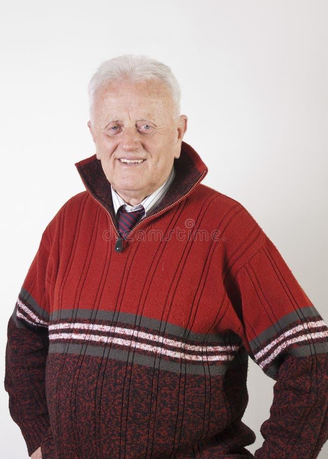 愉快的老人纵向  库存图片