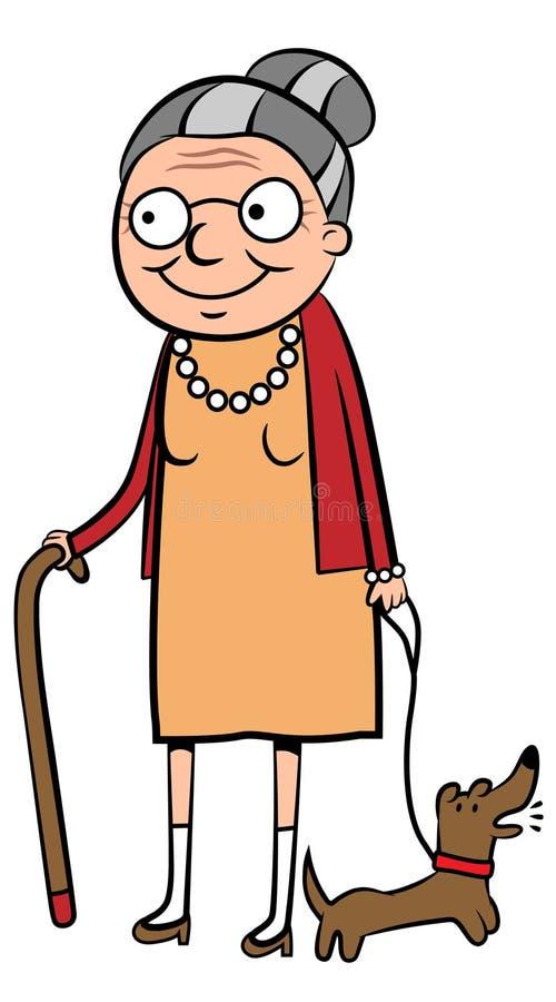 愉快的老妇人 皇族释放例证