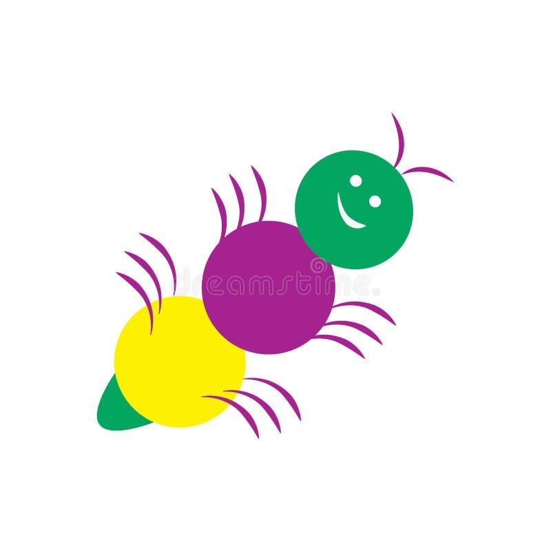 愉快的色的一点蚂蚁卡通人物 ?? 皇族释放例证