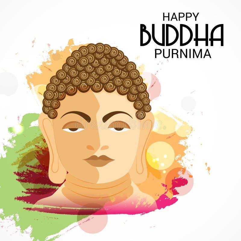 愉快的菩萨Purnima 向量例证