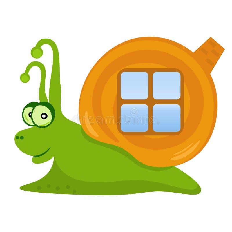 愉快的蜗牛 库存例证