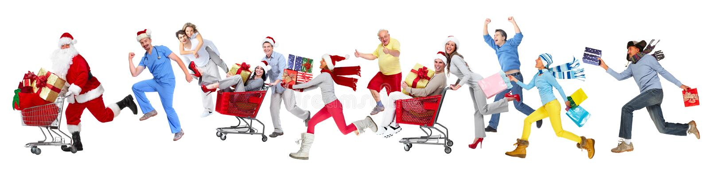 愉快的连续圣诞节人民 库存照片