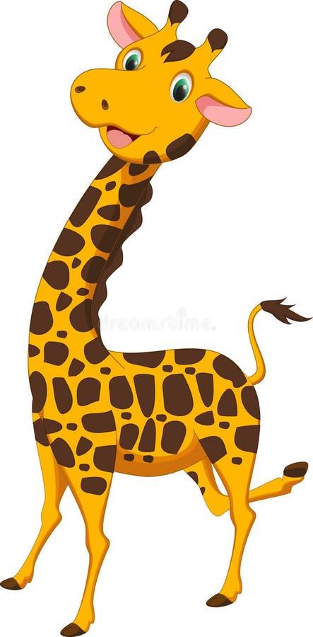 愉快的长颈鹿动画片 皇族释放例证