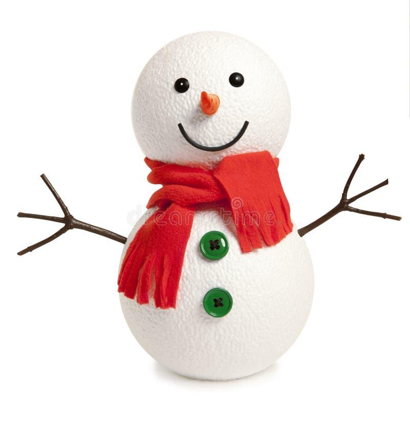 愉快的雪人被隔绝 库存图片