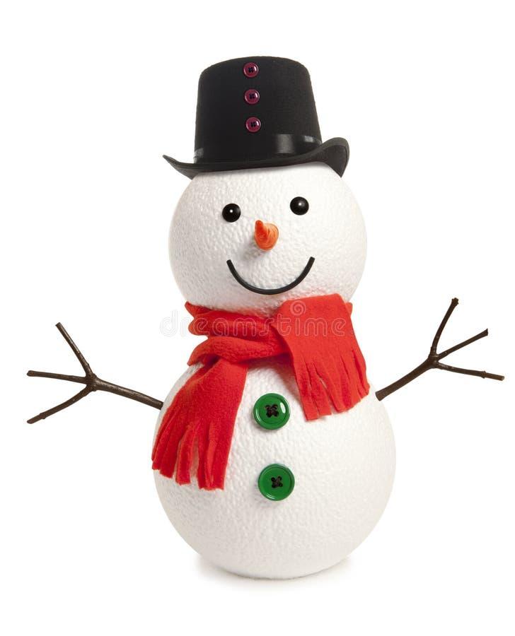 愉快的雪人被隔绝 免版税库存图片
