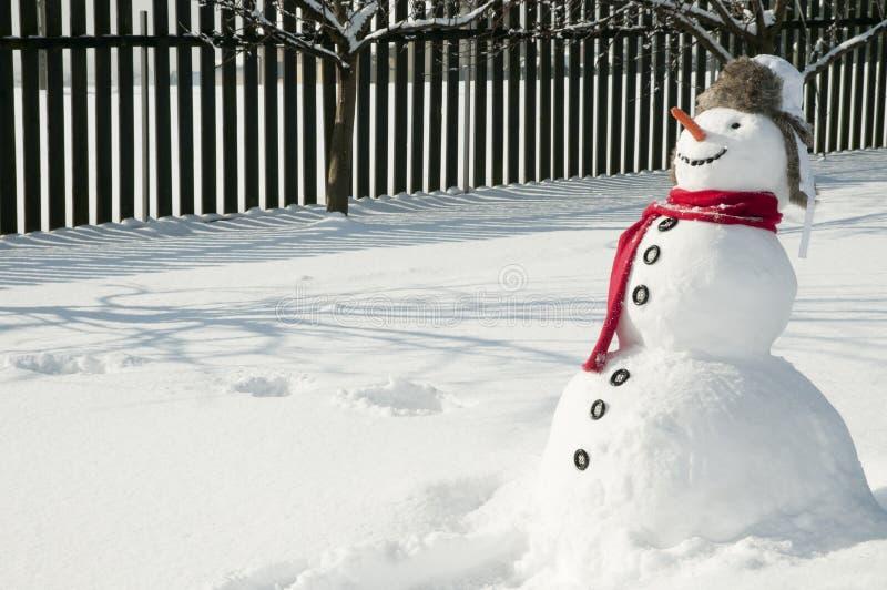 愉快的雪人 库存图片