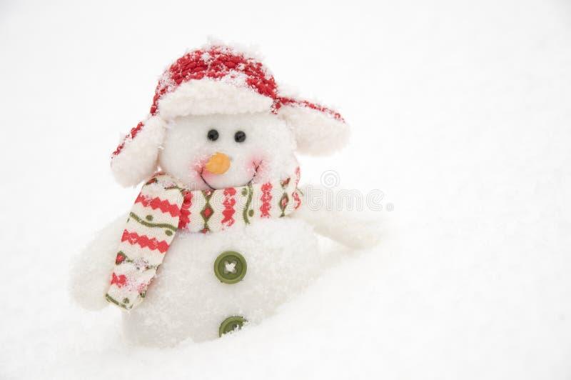 愉快的雪人 免版税图库摄影