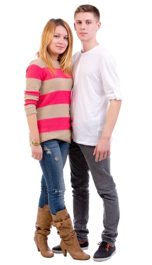 愉快的青少年的夫妇 图库摄影