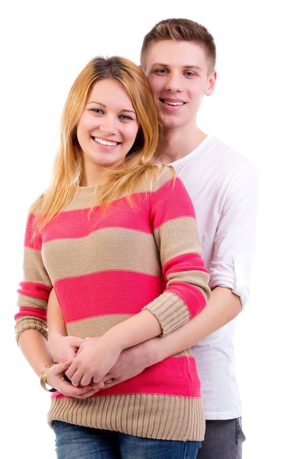 愉快的青少年的夫妇 库存图片