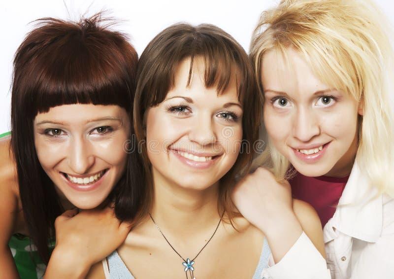 愉快的青少年的女孩 免版税库存照片