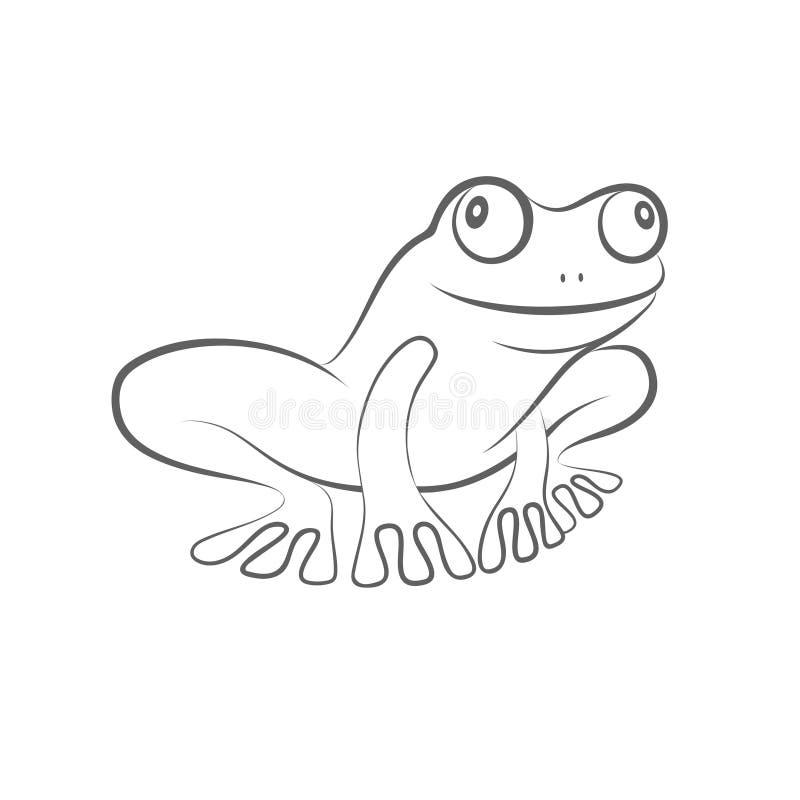 愉快的青蛙标志 向量例证