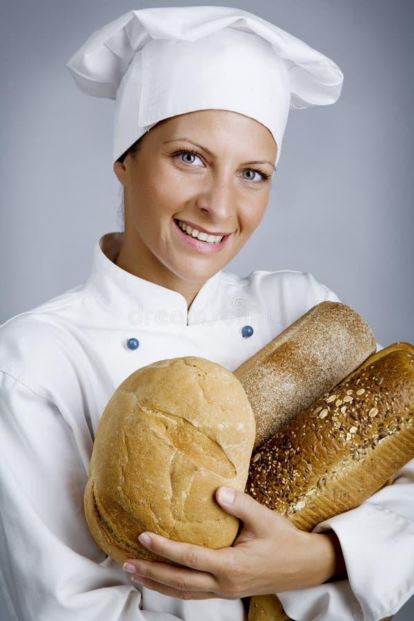 愉快的面包师 免版税库存照片