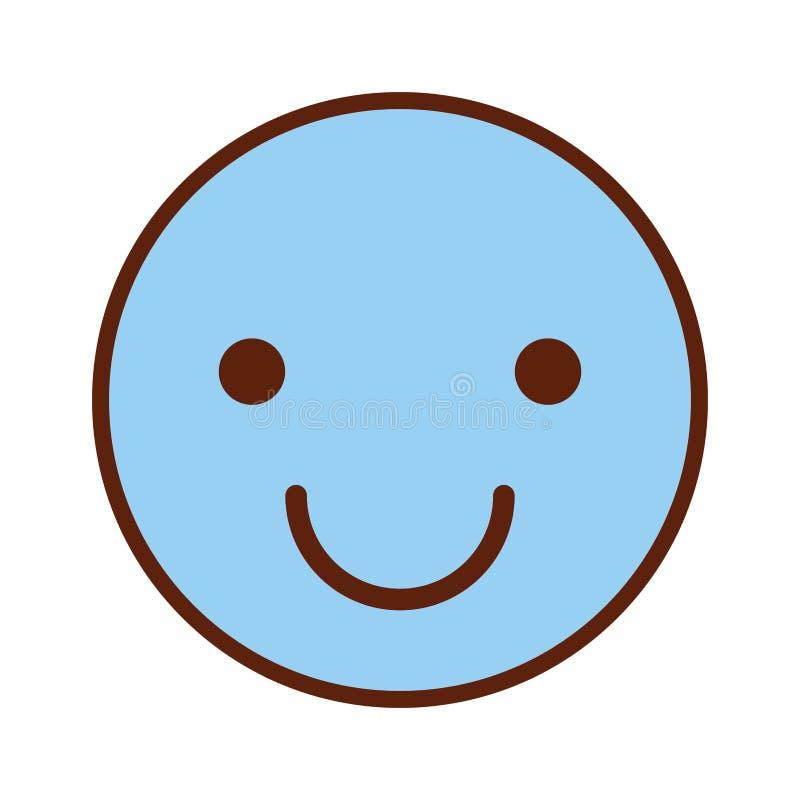 愉快的面孔emogy象 向量例证