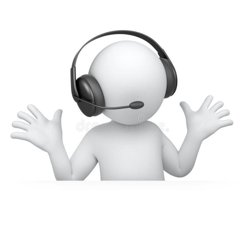 愉快的音乐爱好者 向量例证