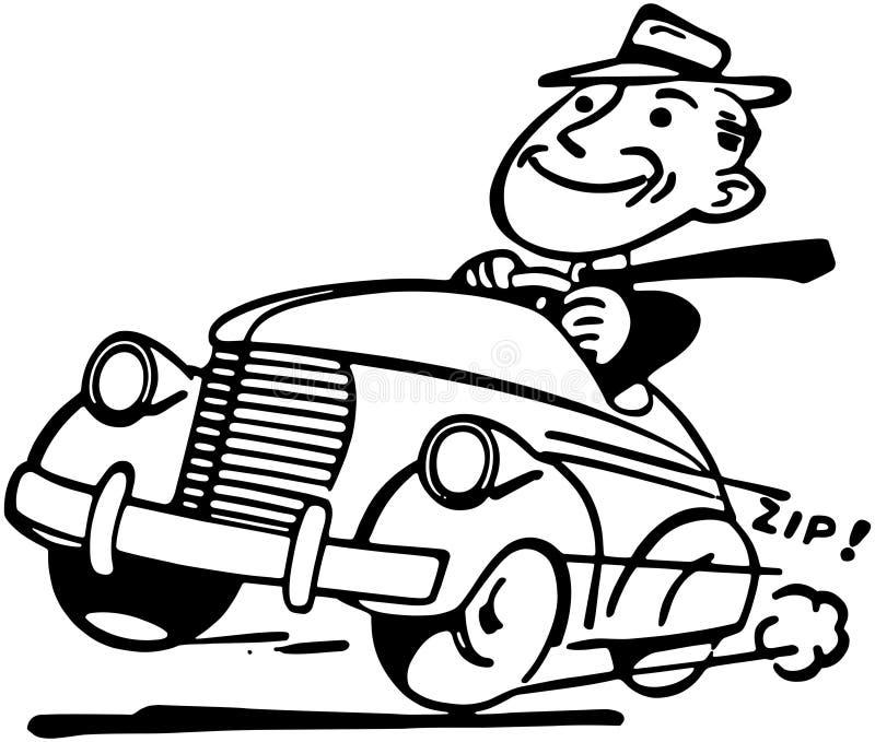 愉快的驾驶人 向量例证
