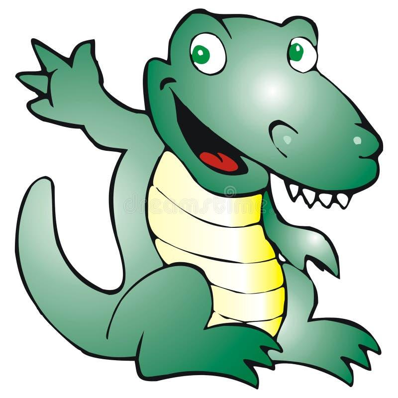 愉快的鳄鱼 皇族释放例证