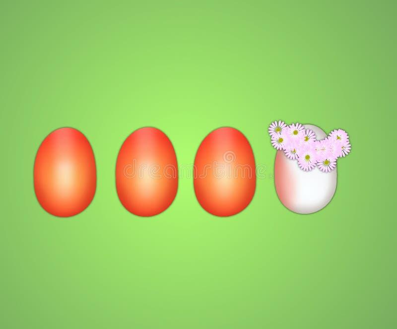 愉快的鸡蛋 库存例证