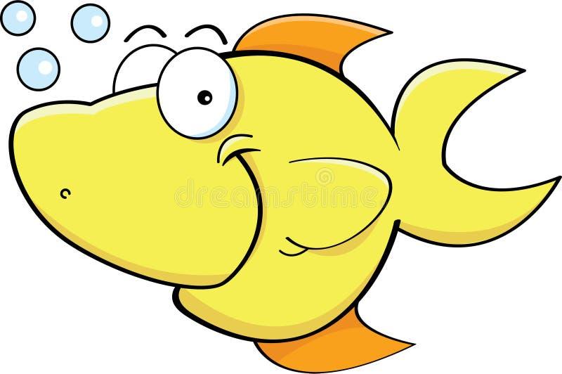 愉快的黄色鱼 向量例证