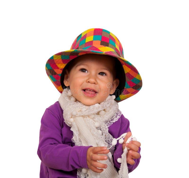 愉快的婴孩画象 库存照片