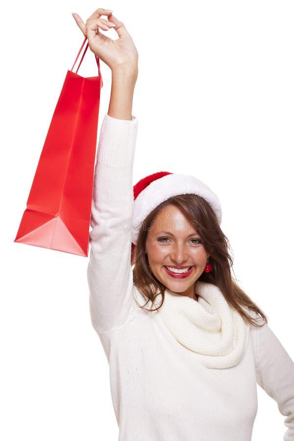 愉快的活泼的圣诞节顾客 免版税库存照片