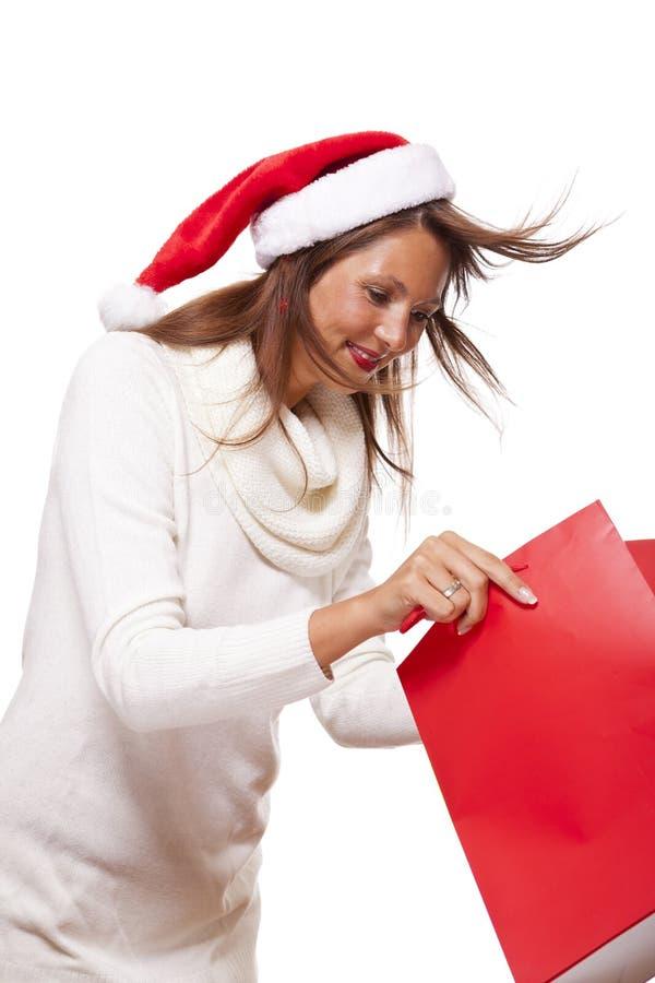 愉快的活泼的圣诞节顾客 免版税库存图片