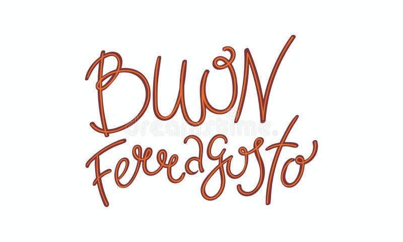 愉快的Ferragosto行情用意大利语 皇族释放例证