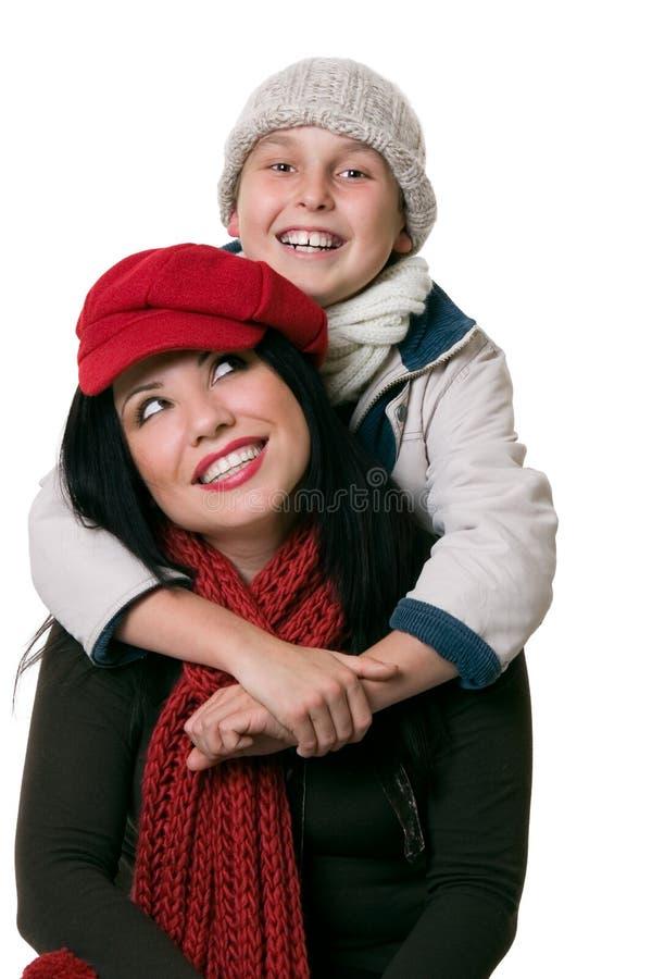愉快的nuturing的父母亲关系 免版税库存照片
