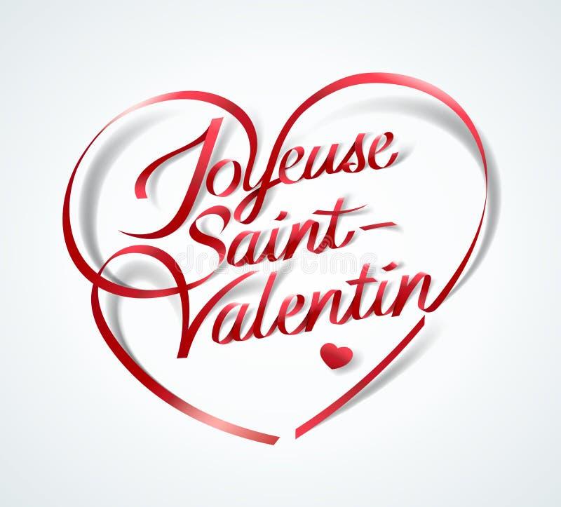 愉快的Valentine's天用法语:Joyeuse圣徒Valentin 库存例证