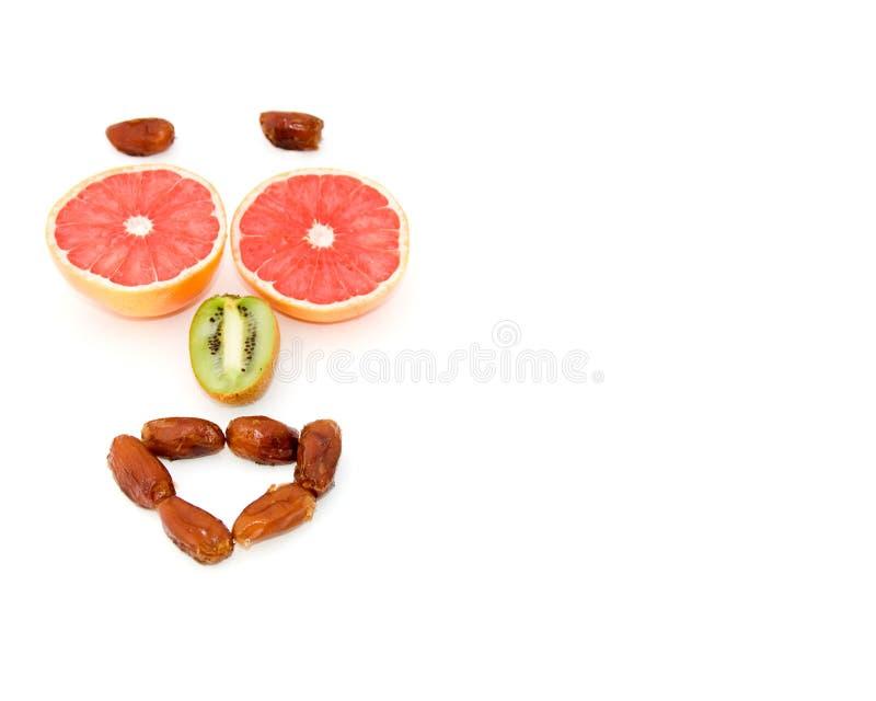 愉快表达式的果子 库存图片