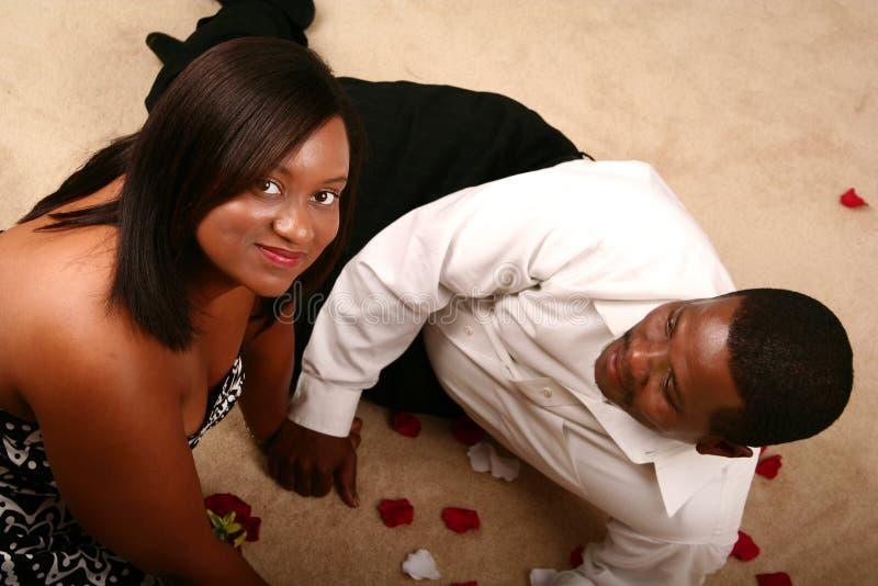 愉快非洲裔美国人的夫妇 库存照片