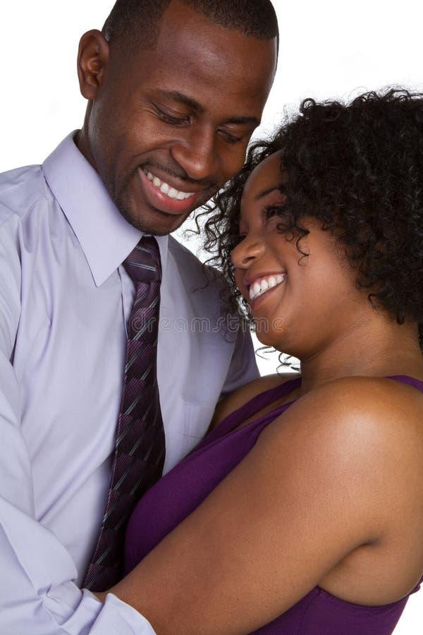 愉快黑色的夫妇 库存照片