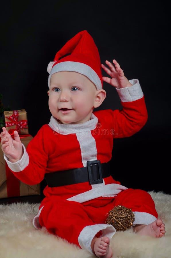 愉快婴孩的圣诞节 库存照片