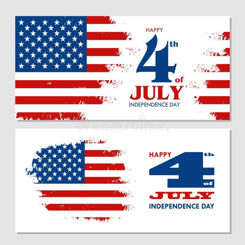 愉快7月第4美利坚合众国的-美国独立日 皇族释放例证