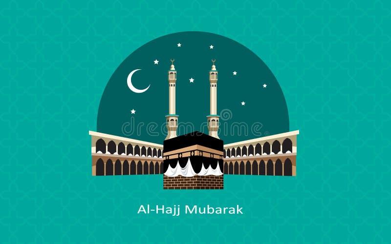 愉快Al麦加朝圣穆巴拉克庆祝 库存图片
