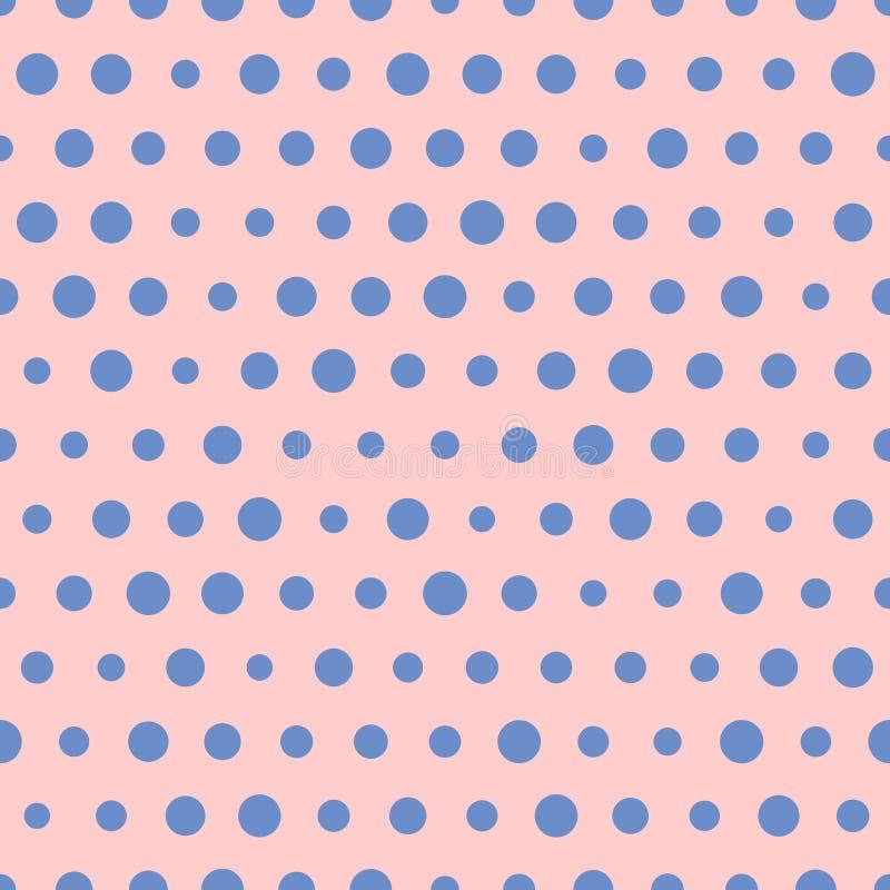 任意传染媒介样式大和小蓝色圆点 向量例证